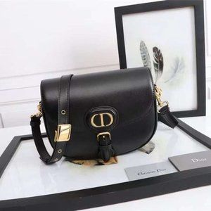 NWT Dior Bobby Round Flap Bag in Black Leather2011